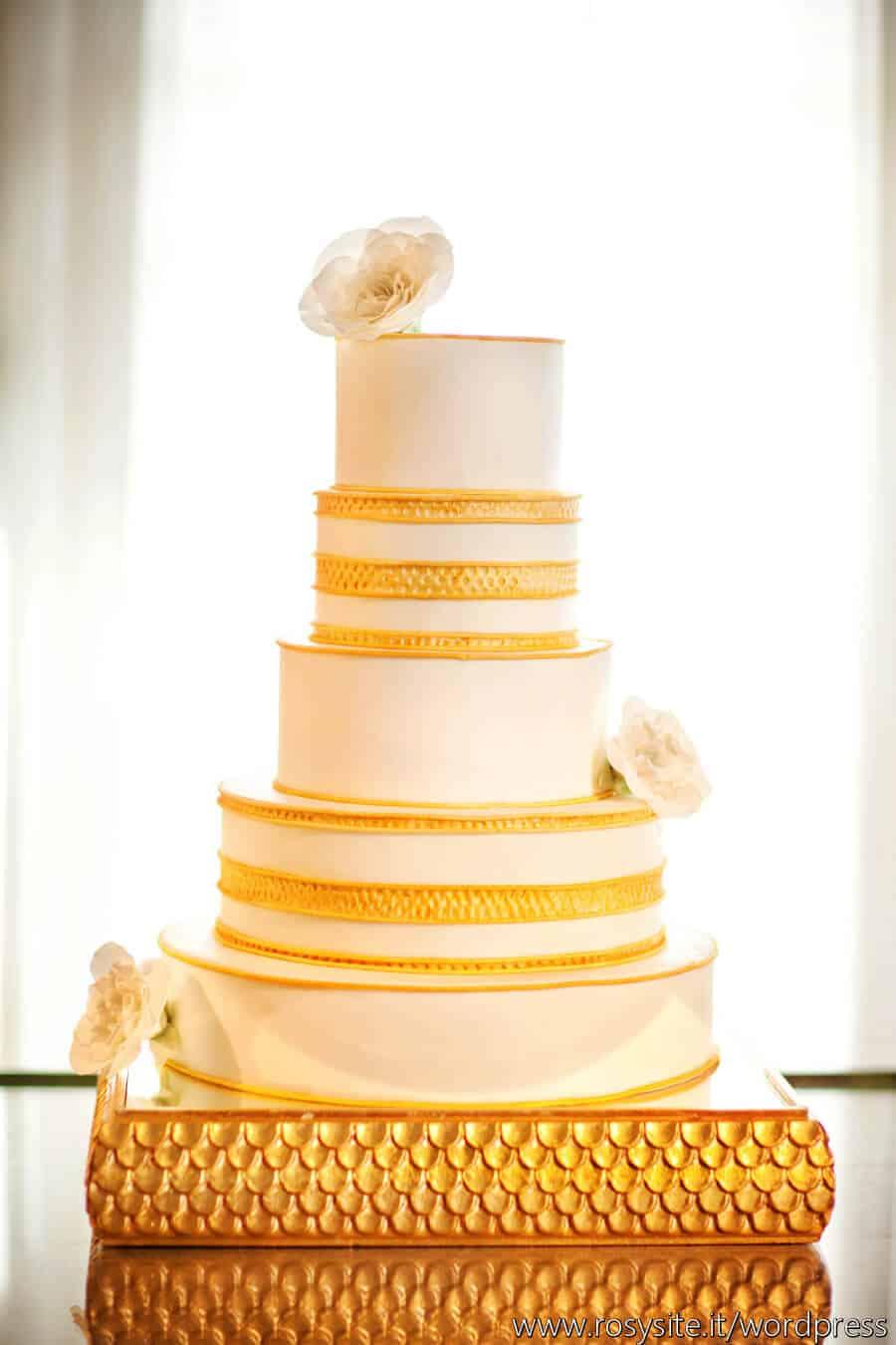 Tuscan Wedding Cakes contemporay gold cake | Tuscan Wedding Cakes