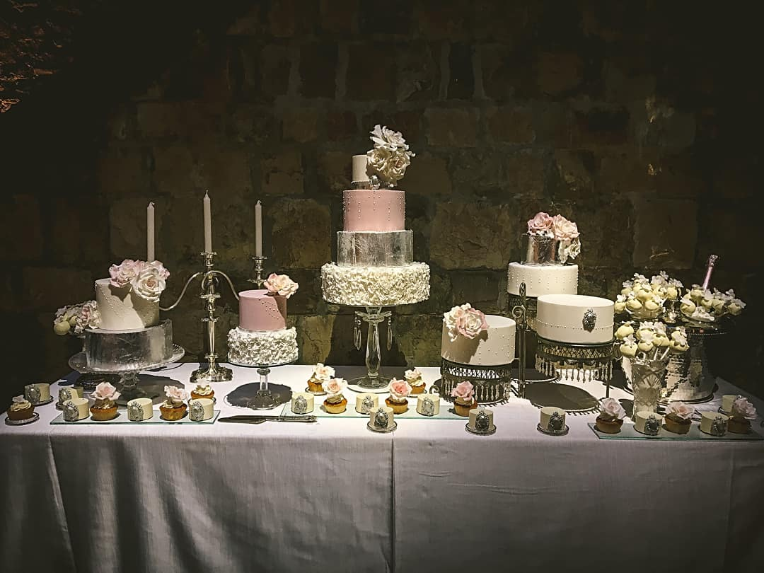 Wedding Cake Table in Tuscany