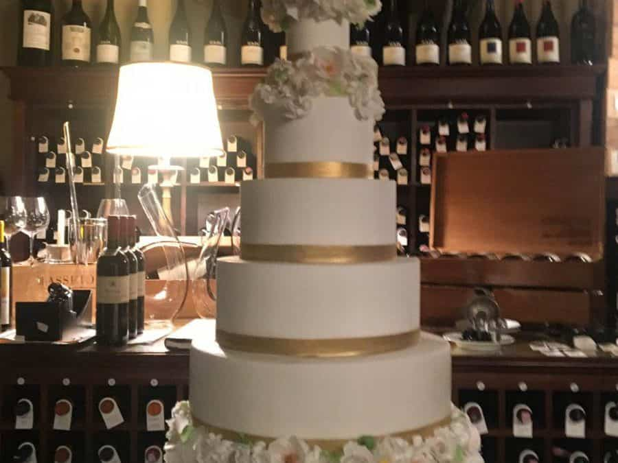 Stunning Wedding Cake at Villa San Michele, Tuscany