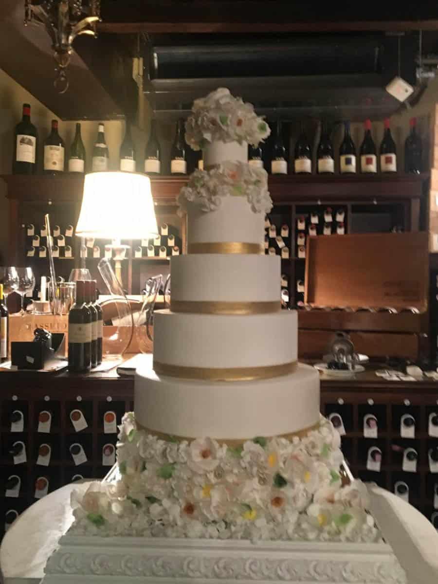 Stunning Wedding Cake At Villa San Michele Tuscany Italy Tuscan