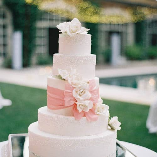 Tuscany Wedding Cake featured in Style Me Pretty