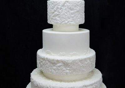 All White Bas-Relief Wedding Cake, Tuscany