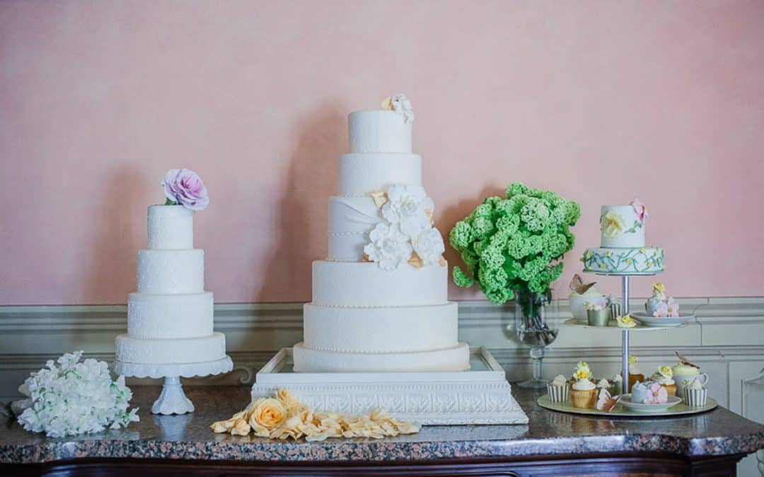 Garden Party Wedding Cake Table, Florence Villa