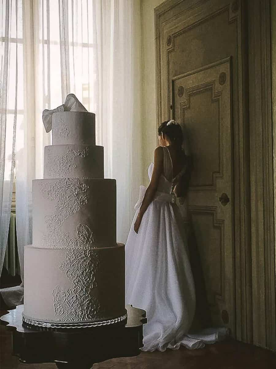 Mariage Haute Couture Lace Cake Tuscan Wedding Cakes