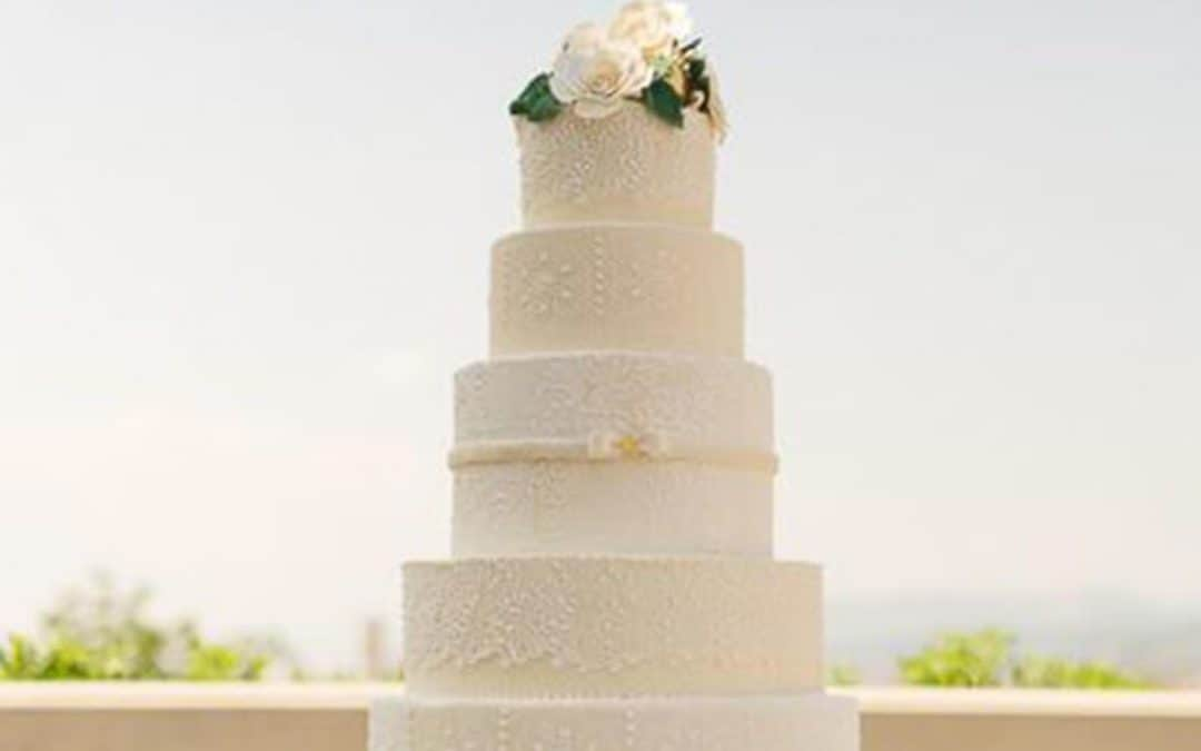 Most Beautiful Lace Wedding Cakes, Brides Magazine