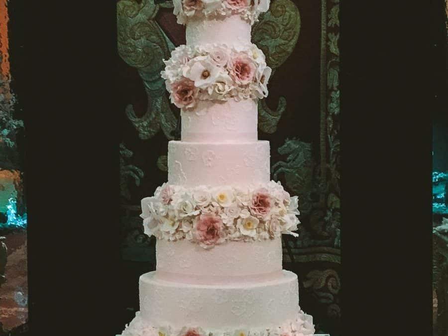 Palazzo Corsini Luxury Floral Wedding Cake