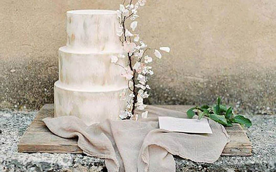 Rustic Blossom Branch Wedding Cake, Tuscan Wedding Cakes