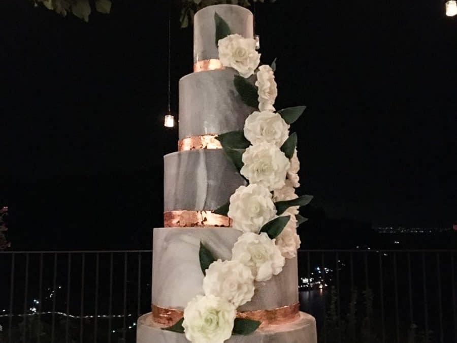 Marbled Wedding Cake at Villa Eva, Ravello Italy
