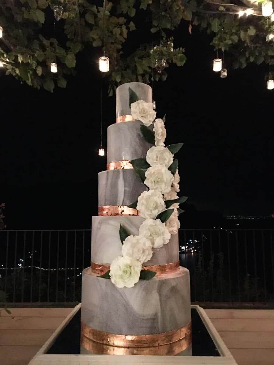 Marbled Wedding Cake Ravello Italy Tuscan Wedding Cakes