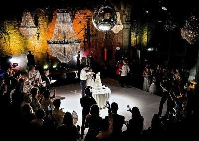 Wedding Cake Cutting at Vincigliata Castle, Italy