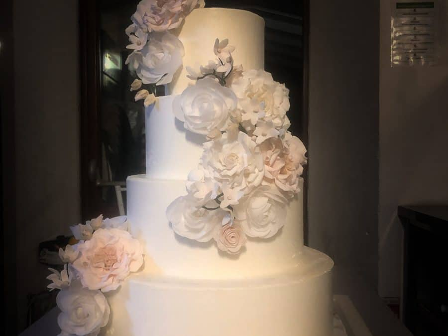 Buttercream Wedding Cake at Villa Tolemei