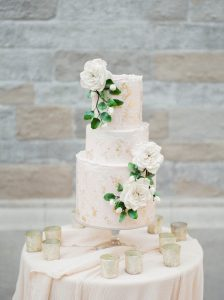 Fairytale Wedding Cake in Pink and Gold at Villa Commenda by Tuscan Wedding Cakes