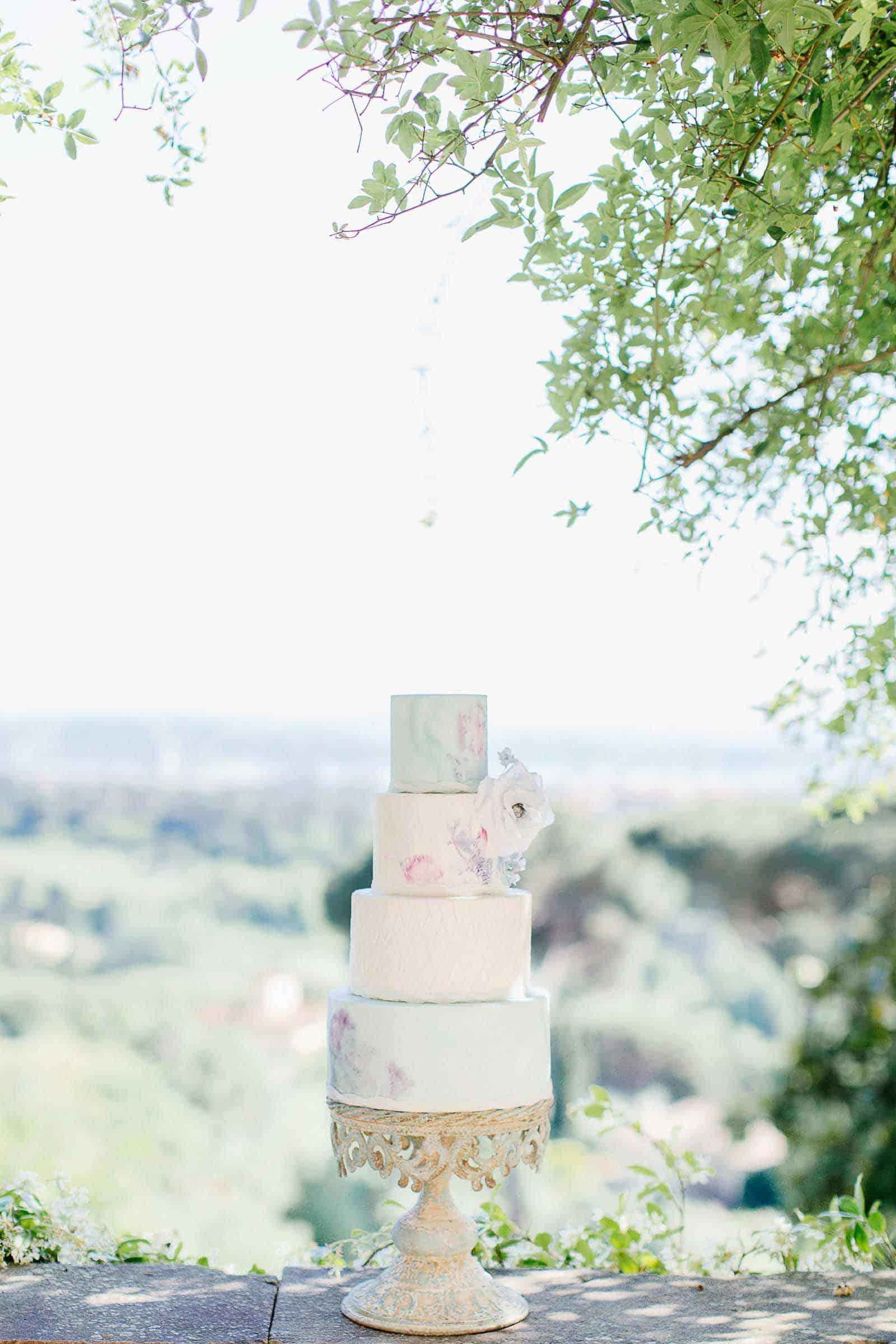 Wedding Cake Tuscany, Villa Le Fontanelle by Tuscan Wedding Cakes