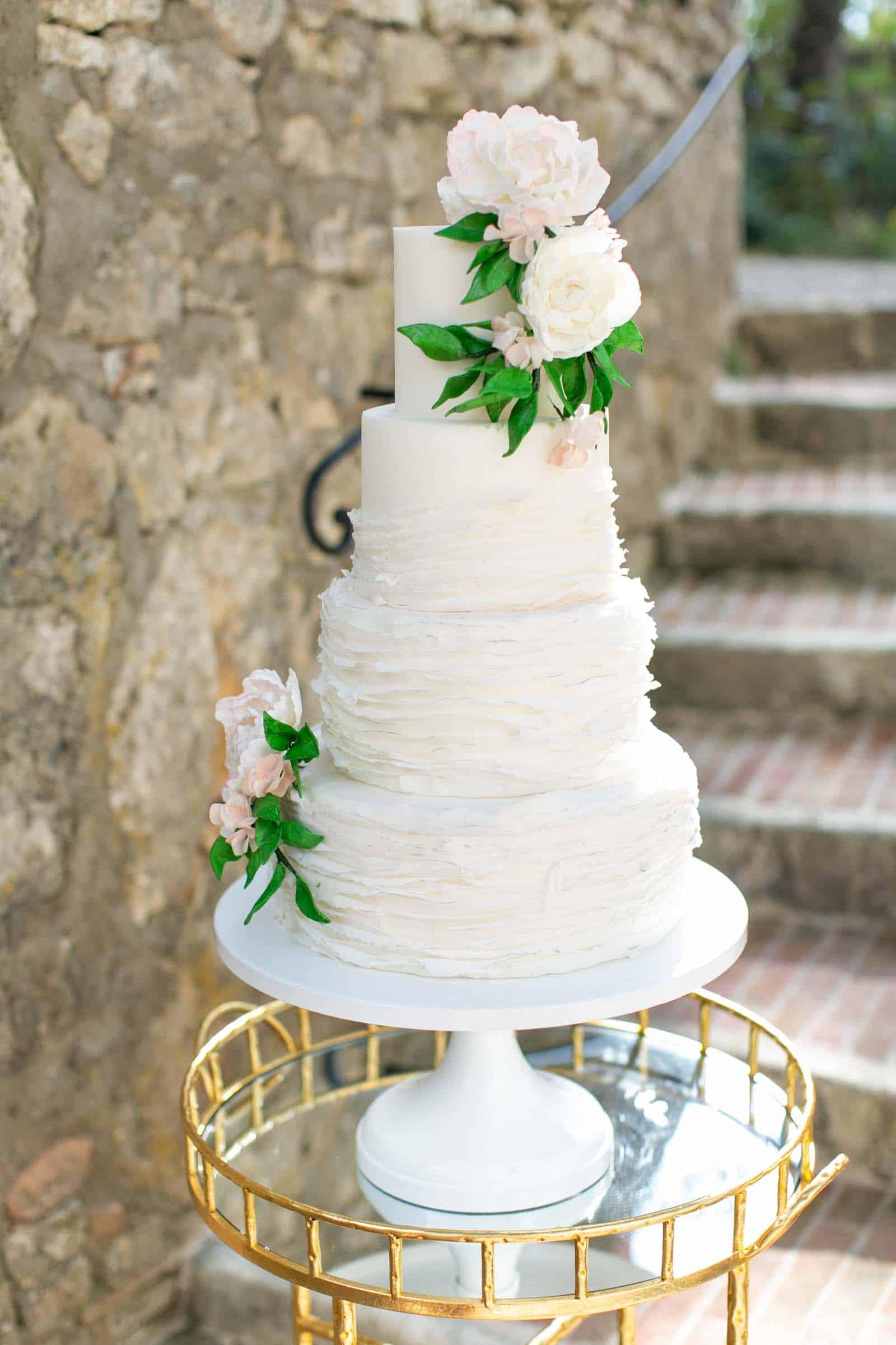 Romantic tiered Cake by Florence Italy Cake Designer Melanie Secciani at Borgo Pignano