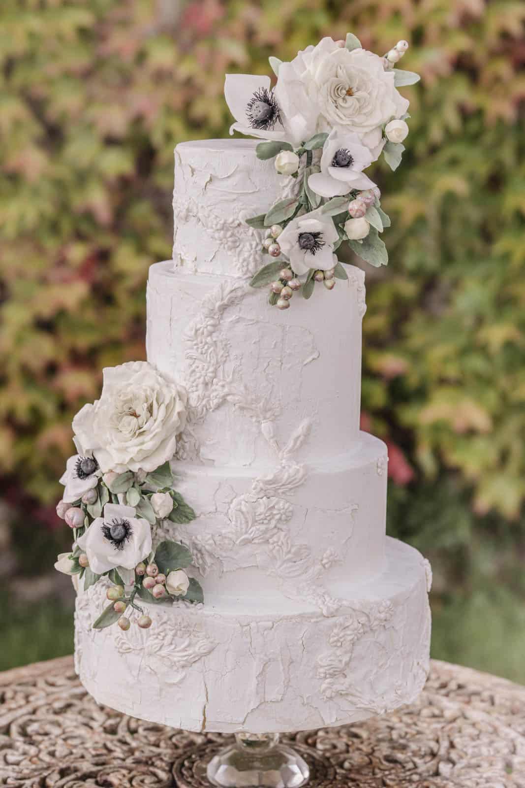 Romantic tiered Cake by Florence Italy Cake Designer Melanie Secciani at Castello di Celsa