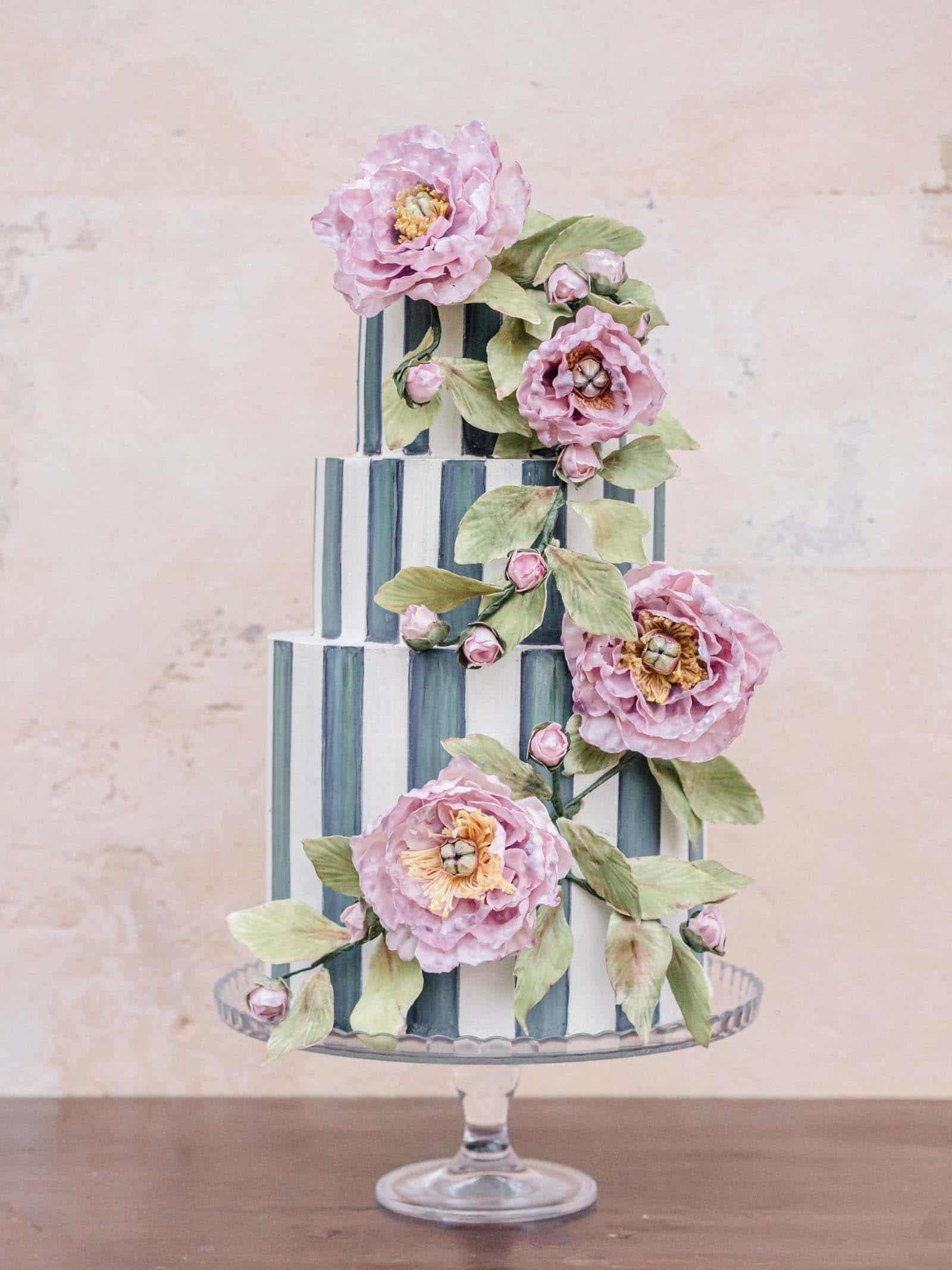 Wedding Cake Siena Italy at Castello di Celsa by Tuscan Wedding Cakes.